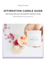Affirmation Candle Guidebook | Mining For Soul
