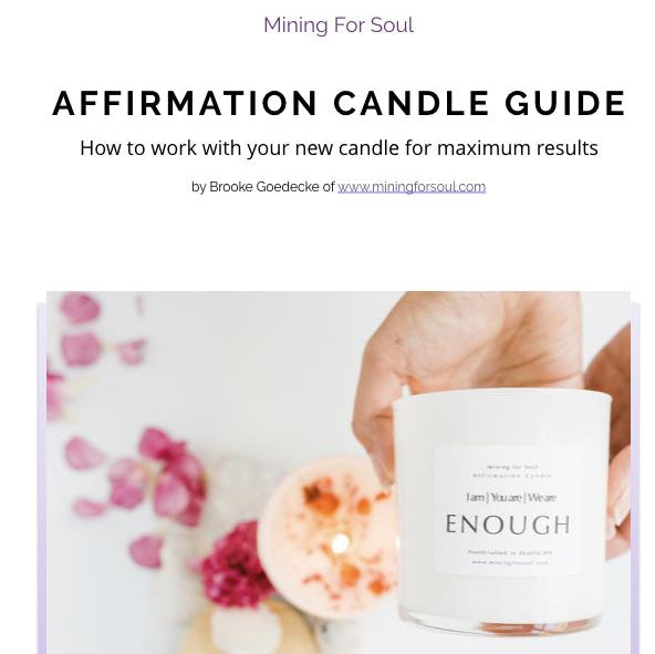 3 Affirmation Candle Set + Digital Guidebook