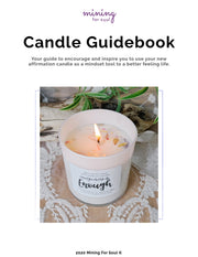 """Complete"" Affirmation Candle White Glass + Digital Guidebook"