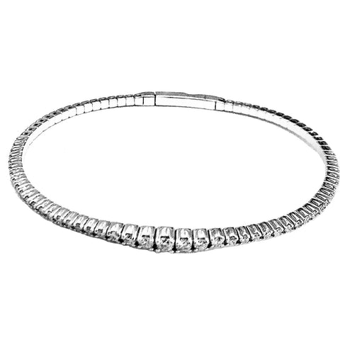 14k white gold flexible bangle