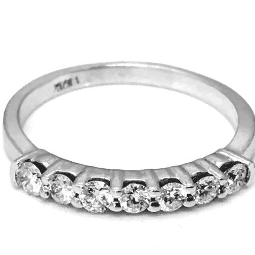 Prong set ( 7 diamonds) diamond wedding ring - EMPEROR JEWELRY CO L.L.C