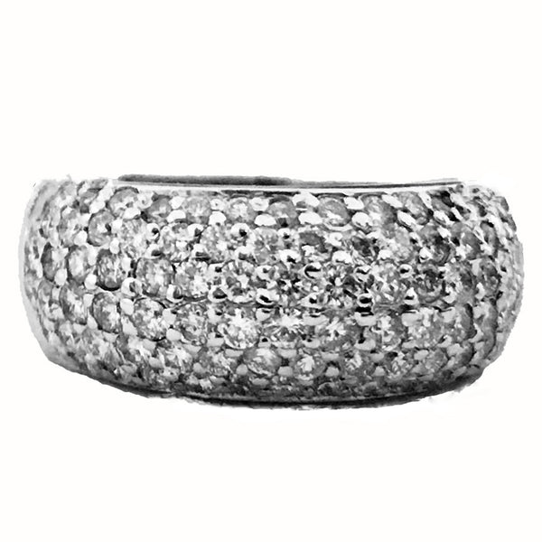 Dome shape wide pave set anniversary ring - EMPEROR JEWELRY CO L.L.C