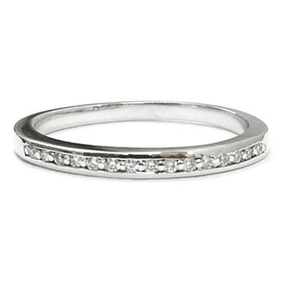 Dainty  pave set diamond stacking, wedding ring - EMPEROR JEWELRY CO L.L.C