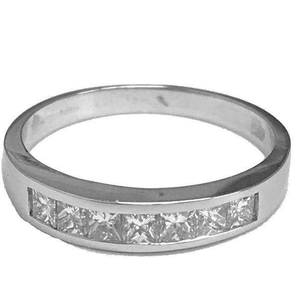 Seven channel set princess cut diamond ring - EMPEROR JEWELRY CO L.L.C