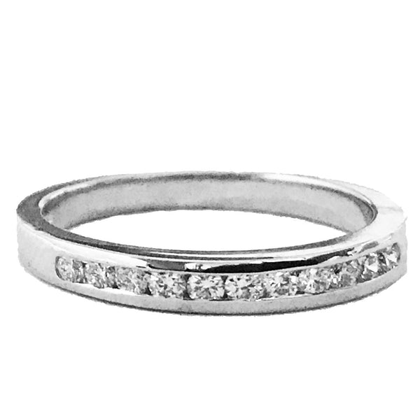 Channel set round diamond anniversary, wedding ring - EMPEROR JEWELRY CO L.L.C