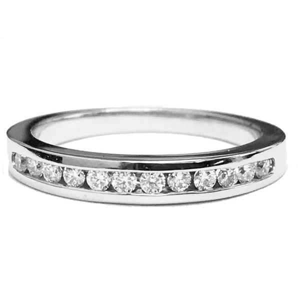 Channel set(12) diamond Anniversary ring - EMPEROR JEWELRY CO L.L.C
