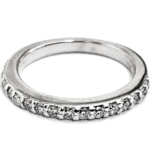 Pave prong diamond wedding, anniversary ring - EMPEROR JEWELRY CO L.L.C