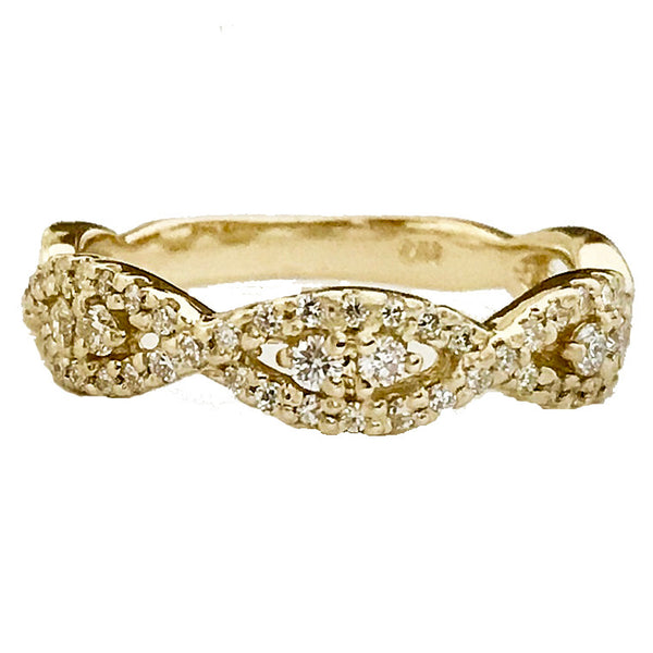 Infinity style diamond wedding ring - EMPEROR JEWELRY CO L.L.C