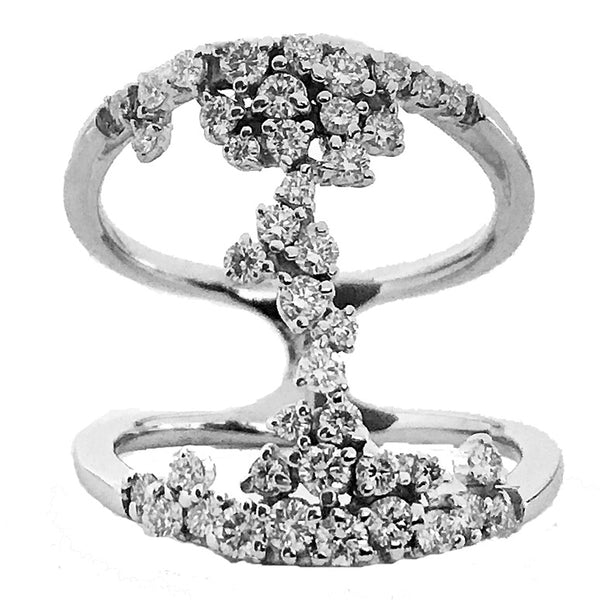 Fashion  prong and pave diamond  ring - EMPEROR JEWELRY CO L.L.C