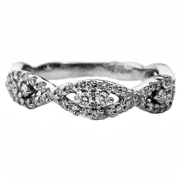 Marquis shape diamond wedding anniversary ring - EMPEROR JEWELRY CO L.L.C