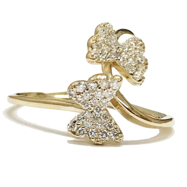 Butterfly pave diamond ring - EMPEROR JEWELRY CO L.L.C