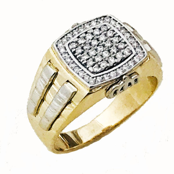 Men's designer pave diamond ring - EMPEROR JEWELRY CO L.L.C