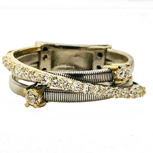 pave and prong diamond layer ring - EMPEROR JEWELRY CO L.L.C