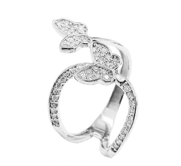 Butterfly diamond ring.emperor jewelry co l.l.c