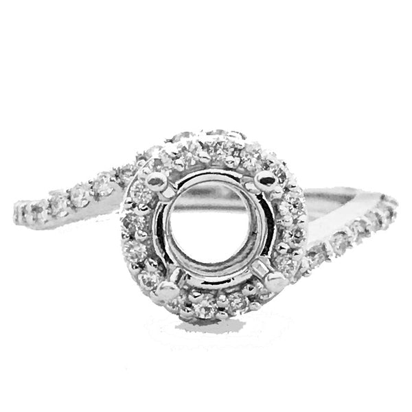 Swirl style diamond semi mount - EMPEROR JEWELRY CO L.L.C