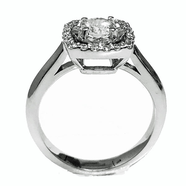 Illusion set diamond engagement ring - EMPEROR JEWELRY CO L.L.C