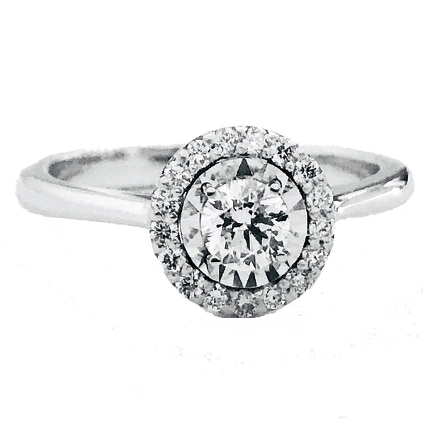 Dainty halo illusion setting engagement ring40 - EMPEROR JEWELRY CO L.L.C