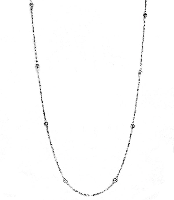 Diamond by the yards necklaces - EMPEROR JEWELRY CO L.L.C