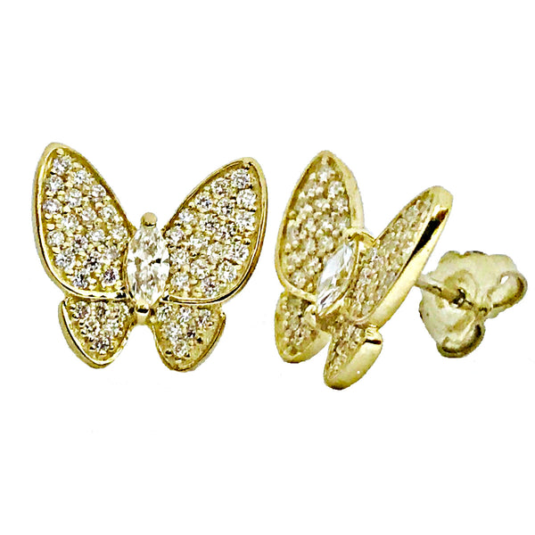 Butterfly pave diamond earrings - EMPEROR JEWELRY CO L.L.C