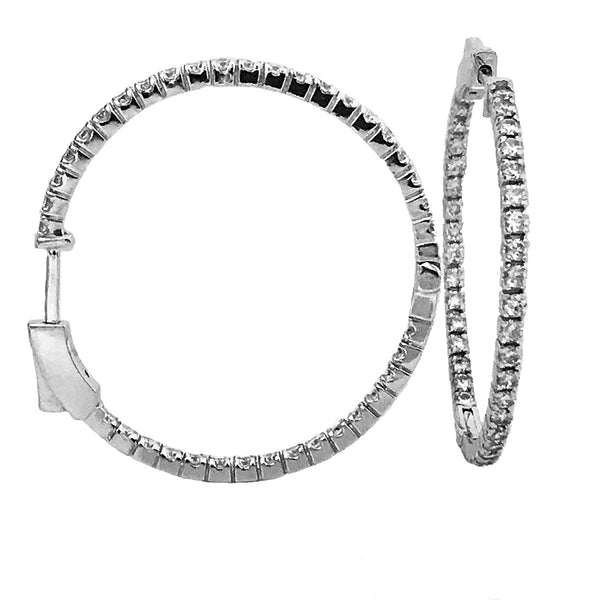 1.60 carat hoop diamond earrings2
