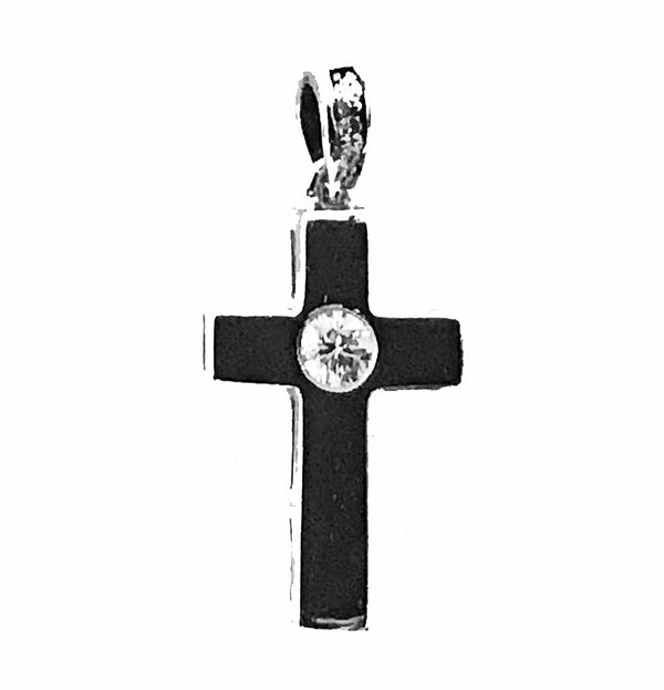 Burnish set diamond cross - EMPEROR JEWELRY CO L.L.C