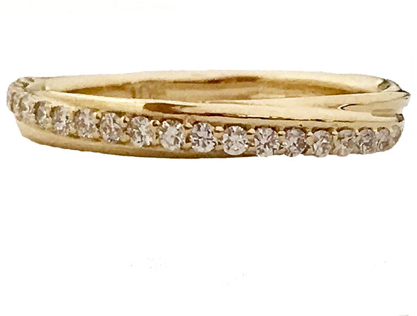 Slanted pave ' diamond anniversary ring - EMPEROR JEWELRY CO L.L.C