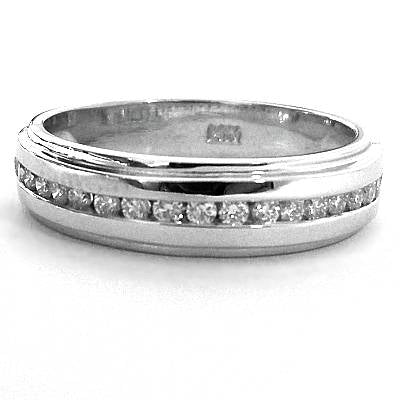 Men's channel set wedding ring - EMPEROR JEWELRY CO L.L.C