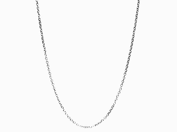 14k white gold cable chain with lobster lock