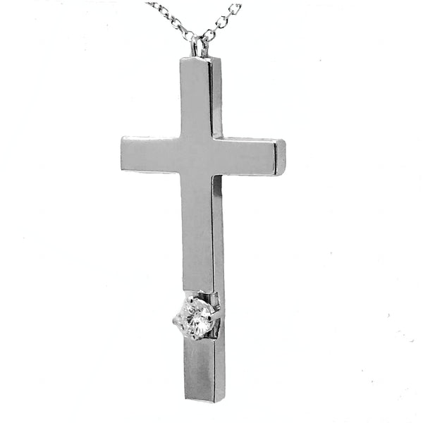 Designer prong diamond cross - EMPEROR JEWELRY CO L.L.C