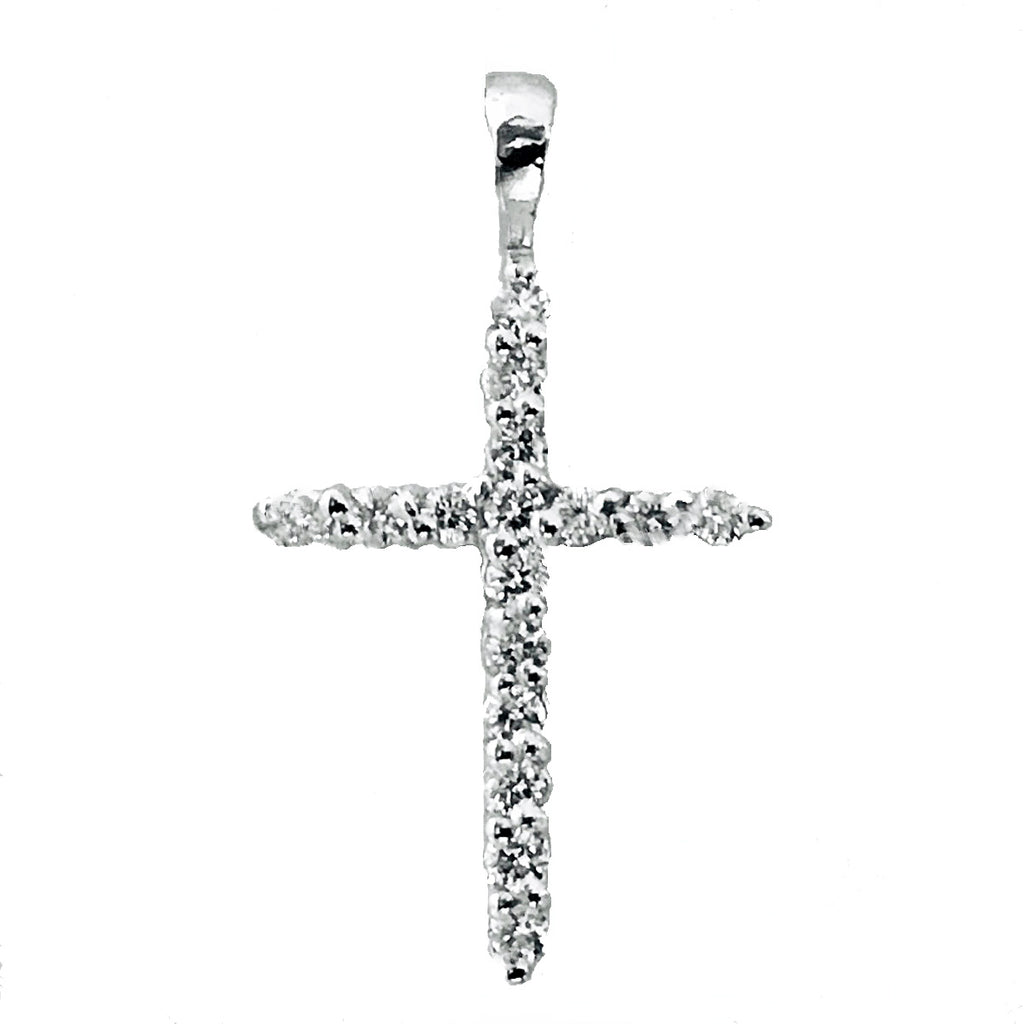 prong diamond cross pendant - EMPEROR JEWELRY CO L.L.C