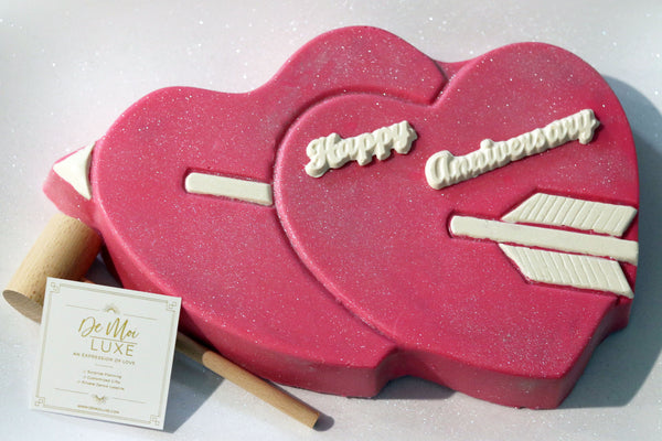 2 Hearts & Arrow BashCake - De Moi Luxe