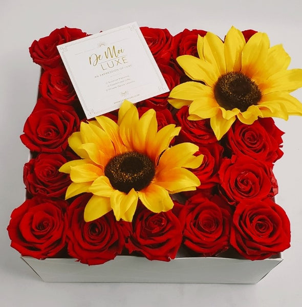 Rose and Sunflower Box - De Moi Luxe