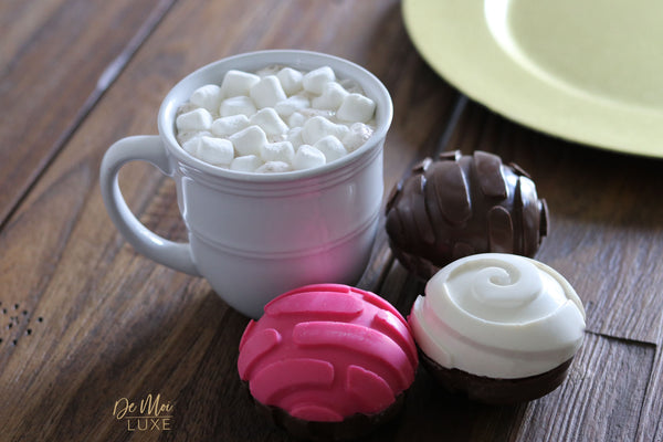 Hot Chocolate Concha Bombs