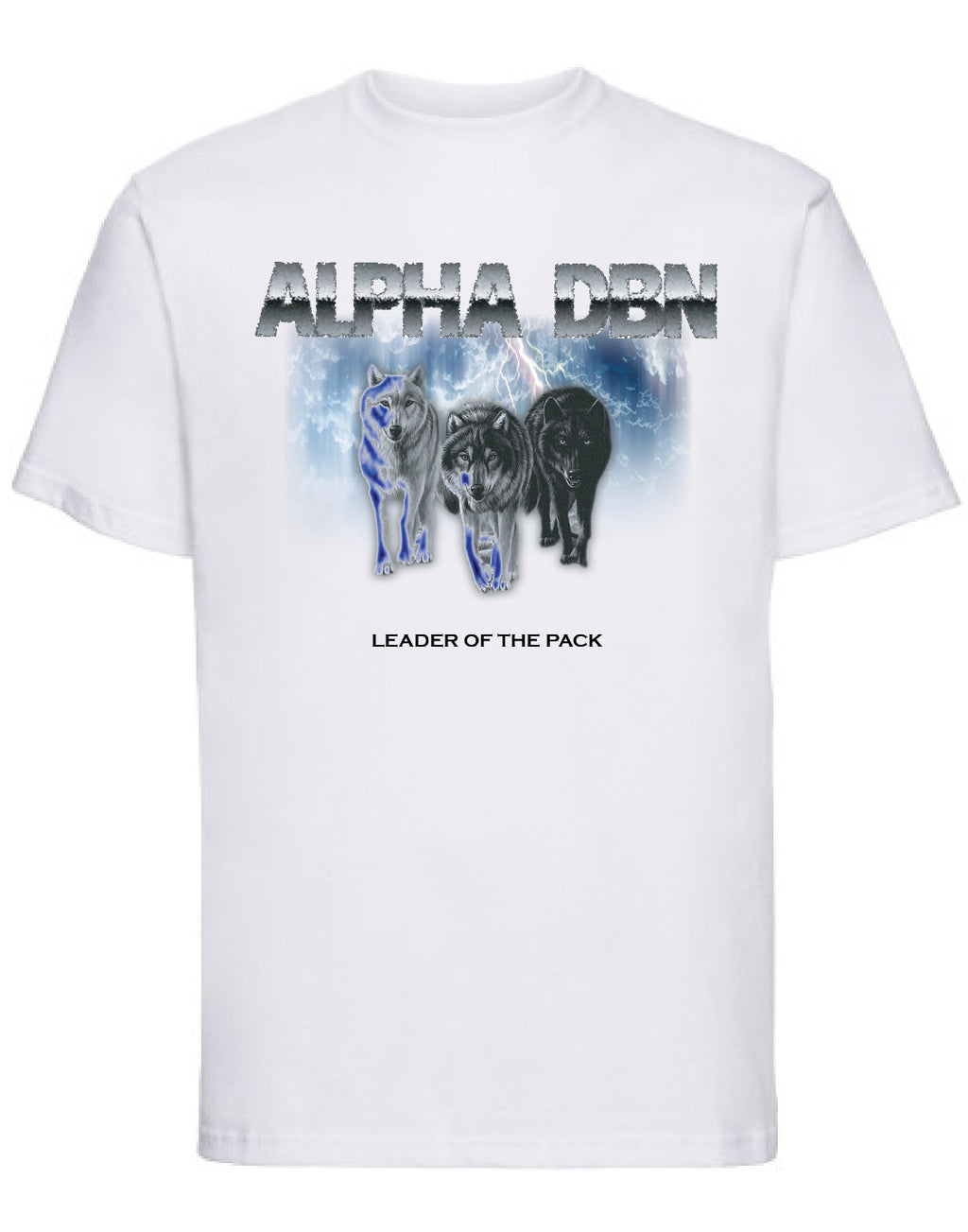 Alpha DBN LEADER OF THE PACK - White T-shirt