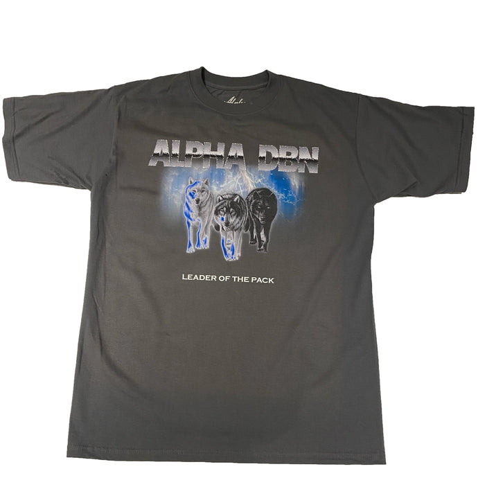 Alpha DBN LEADER OF THE PACK - Grey T-Shirt