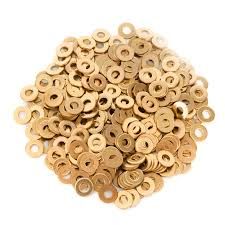 British Association (BA) Brass Flat Washers 25 Pack