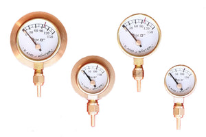 Small Pressure Gauges with Red Line