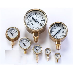 Large Pressure Gauges With and Without Back Flange