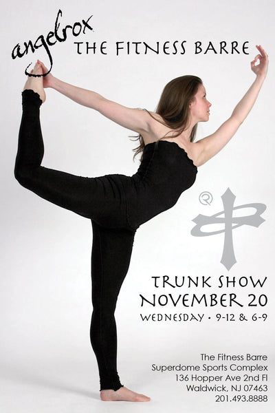 angelrox trunk show at the fitness barre