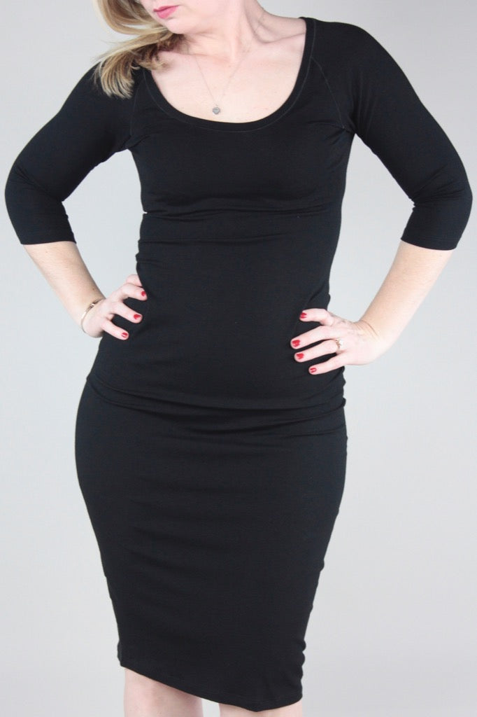 suger star dress in black bamboo
