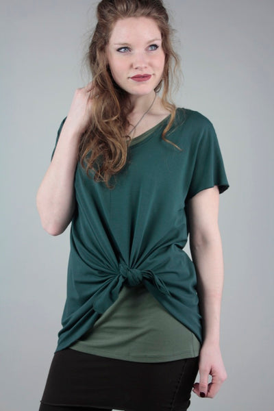 spruce moon t tied over moss core + black playsuit