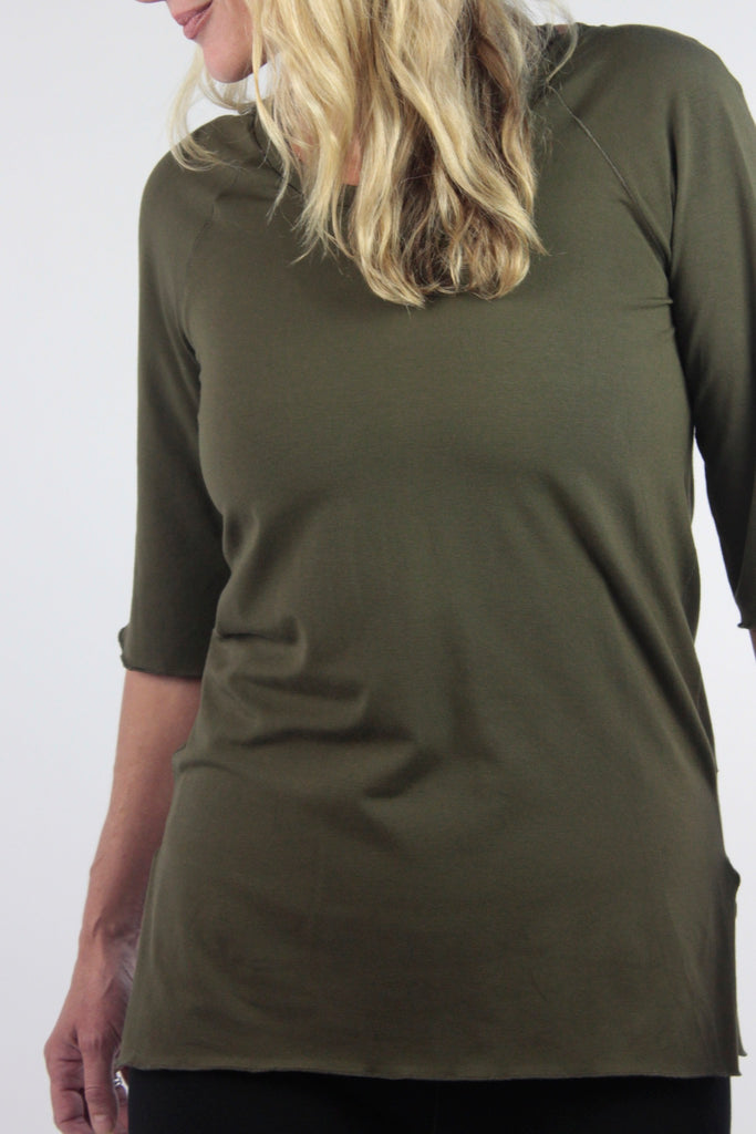 diamond tee in olive bamboo by suger®