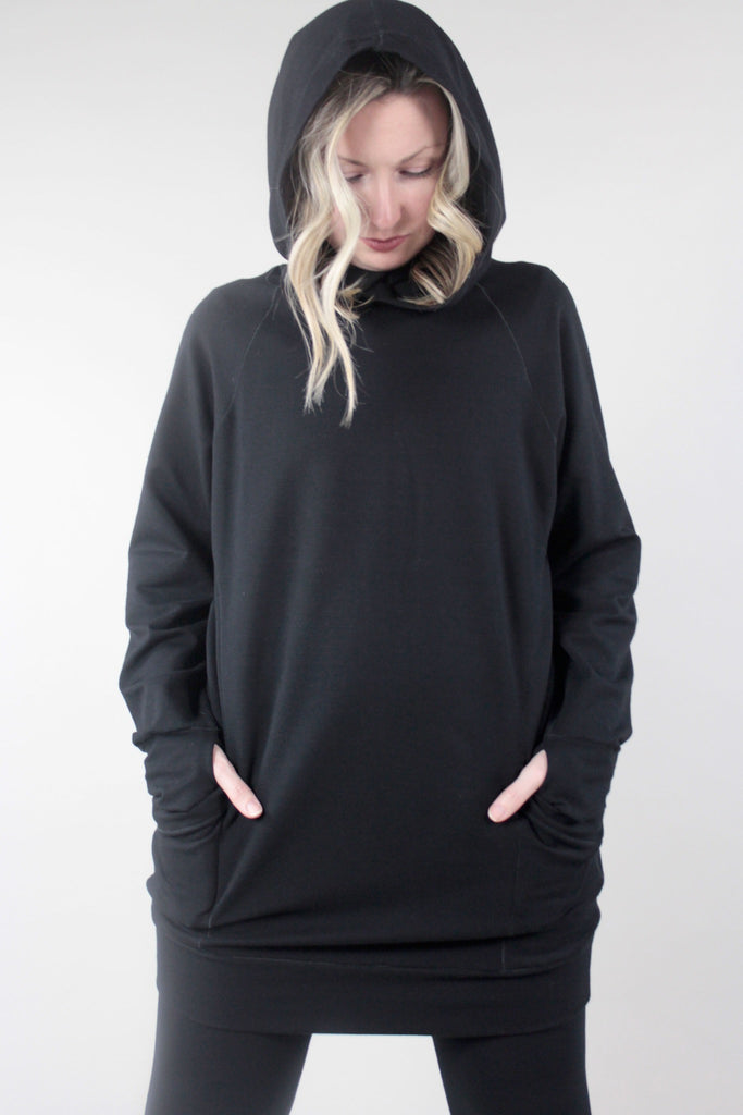 maeve hoody black terry with base black terry suger®