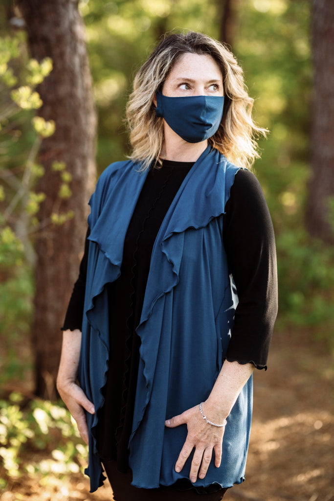 whisper mask in lake with lake brook vest