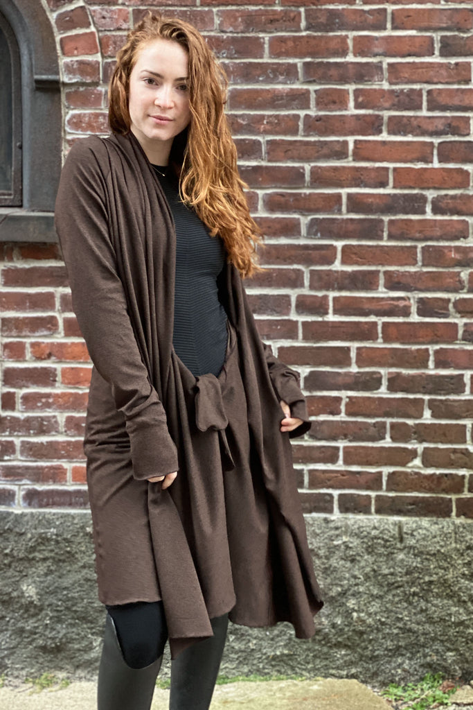 espresso bamboo riding coat