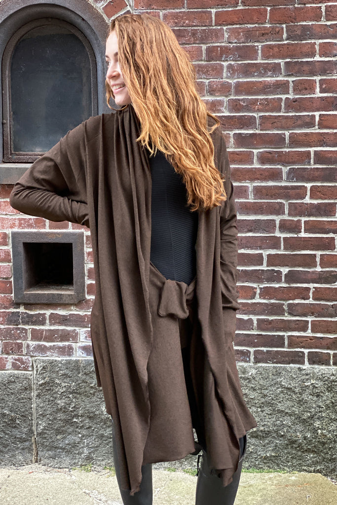 riding coat in espresso