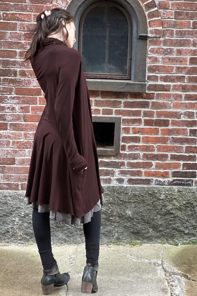 wine bamboo riding coat