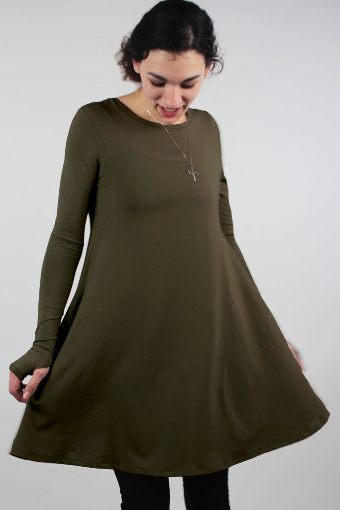 stella dress in olive