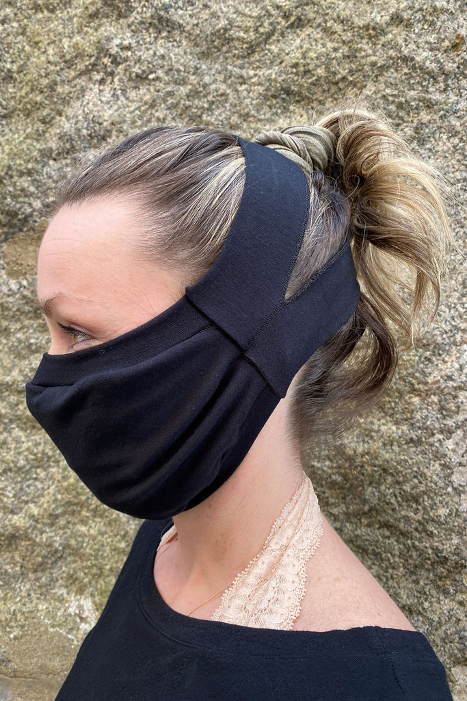 suger® comfort face mask in black bamboo