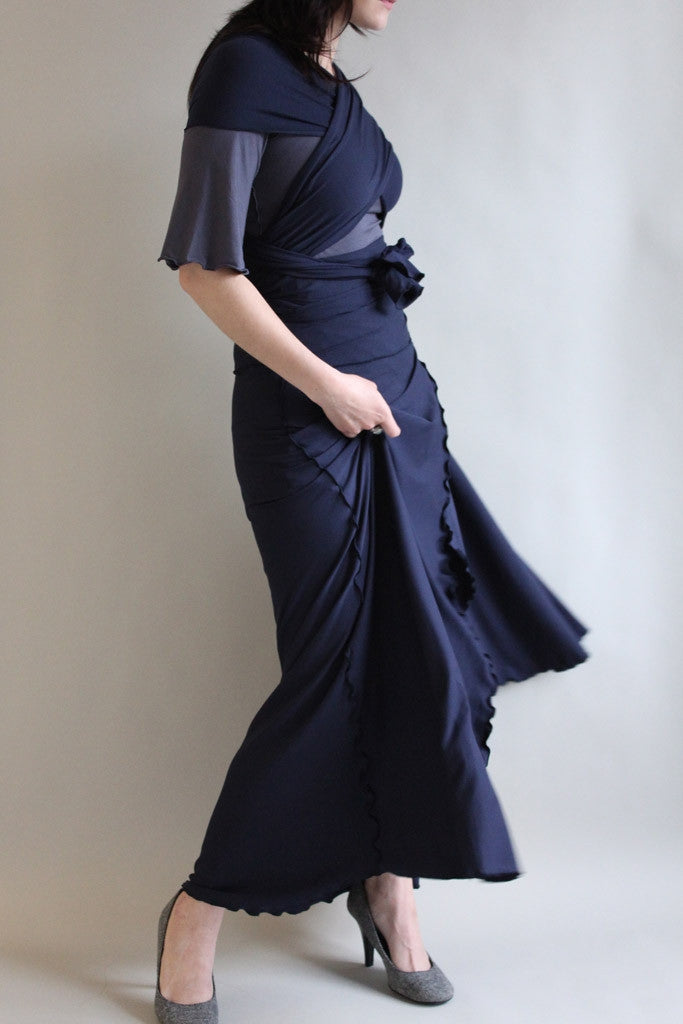 "the formal wrap is 12"" longer than our traditional length for floor sweeping dresses"